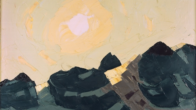 Mountain landscape with High Sun, Kyffin Williams, c. 1975